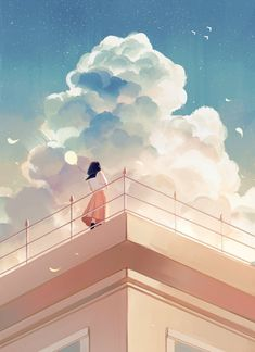 """""""cloud or giant shaved ice 🤔"""" Wallpaper Animes, Anime Scenery Wallpaper, Aesthetic Pastel Wallpaper, Animes Wallpapers, Aesthetic Wallpapers, Cute Wallpapers, Aesthetic Anime, Aesthetic Art, Aesthetic Pictures"""