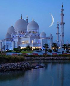 Amazing view by night at Sheikh Zayed Mosque in Abu Dhabi United Arab Emirates. Courtesy of Amazing view by night at Sheikh Zayed Mosque in Abu Dhabi United Arab Emirates. Courtesy of . Beautiful Mosques, Beautiful Buildings, Beautiful Places, Beautiful Life, Amazing Places, Beautiful Sunrise, Wonderful Places, Abu Dhabi, Mosque Architecture