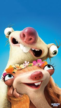 Ice Age Collision Course Animation Movie Wallpaper Source by Movie Wallpapers, Cute Cartoon Wallpapers, Disney And Dreamworks, Disney Pixar, Ice Age Funny, Ice Age Sid, Ice Age Collision Course, Ice Age Movies, Sid The Sloth