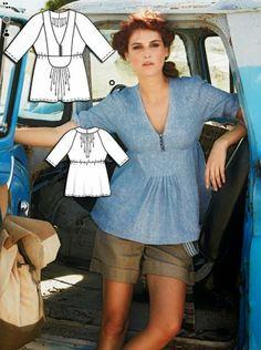 Anilegra moda para muñecas: BURDA STYLE abril 2014 modelos y patrones para primavera - verano