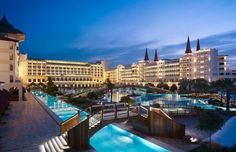The Mardan Palace Hotel one of the most luxurious hotels in the Mediterranean region, was opened in the popular Turkish resort town of Antalya Mardan Palace, Beautiful World, Beautiful Places, Places To Travel, Places To Go, Restaurant Hotel, Hotels In Turkey, Cities, Most Luxurious Hotels