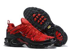 0b495337ff7c Nike Air Max Plus TN Ultra SE Officiel 2019 Chaussures de basket Homme  Grand rouge noir
