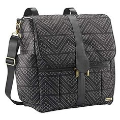 JJ Cole Backpack Diaper Bag with No Slip Grips and Multiple Pockets, Black Aztec Baby Diaper Bags, Diaper Bag Backpack, Backpack Straps, Black Backpack, Leather Backpack, Fashionable Diaper Bags, Jj Cole, Petunia Pickle Bottom, Changing Bag