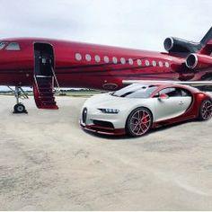 Luxury private Jet with matching Bugatti #luxury #luxurylifestyle #luxuryliving