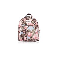 Women Fashion Floral Frosted Material Backpack Cartoon Casual School... ($14) ❤ liked on Polyvore featuring bags, backpacks, white, white backpack, comic backpack, white bag, print backpacks and floral rucksack