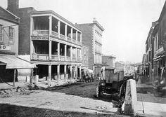 1875 Nashville on Market Street (now 2nd Ave.) Watson House on the left.