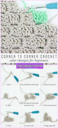 How to Crochet Corner to Corner For Beginner Tutorial