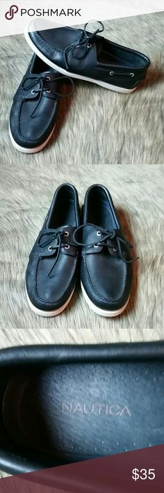 Mens Nautica Leather Sperry Shoes 12M Nautica blue leather Sperry classic boat shoes. Size 12M. Excellent condition. Nautica Shoes Boat Shoes