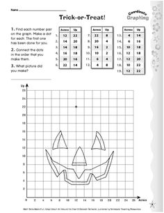 Is making a jack-o'-lantern too messy? Have your child create one using this graphing activity sheet.