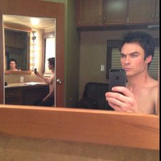Ian Somerhalder is the master of selfies. See him get shirtless, scruffy, and cuddly in 23 amazing pictures.