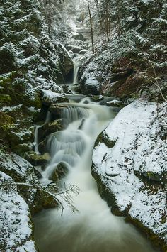 Stillensteinklamm Wasserfall im Winter by Leo Pöcksteiner on 500px