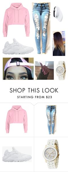 """xo✨"" by fashion-1407 ❤ liked on Polyvore featuring NIKE and Michael Kors"
