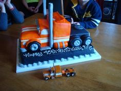 Magnificent Semi Truck Cake Truck Birthday Cakes Semi Truck Cakes Truck Cakes Personalised Birthday Cards Sponlily Jamesorg