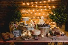 I love this idea for a dessert table. So cute and right up your alley I think for what you've said. Terrain at Styers Wedding Photos by Lauren Fair Photography_0193
