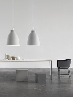 Caravaggio Matt P4 Grey25 designed by Cecilie Manz http://www.lightyears.dk/lamps/pendants/caravaggio-matt-grey25/caravaggio-matt-p4.aspx