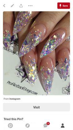 Sparkle confetti nails