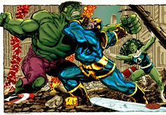 thanos vs hulk byrne by ~namorsubmariner on deviantART