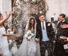 This is what it looks like when you get to have your dream wedding in Ibiza, like Max Sangster and Eveie Longdon did this weekend 👰🏻 Head to our link in bio to check out all the photos, along with our other favourite society weddings of 2017 (📸 by Romantic Wedding Receptions, Wedding Exits, Wedding 2017, Romantic Weddings, Wedding Planner, Wedding Photos, Dream Wedding, Wedding Day, Wedding Send Off