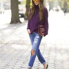 Purple Knitted Turtleneck