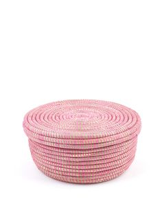 The Little Market Round Basket in Pink