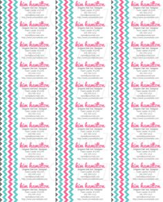 Origami Owl Inspired CONTACT Labels  Aqua/Pink by WizBizGirlz, $3.25- cute!