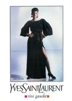 Linda for Yves Saint Laurent, by Arthur Elgort, 1989