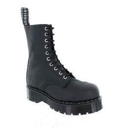 74590c31d4e Grinders - Bulldog X Black Greasy Leather Boot With Double Sole Unit(10  Eyelet)
