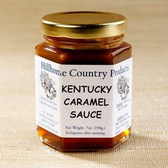 Kentucky Caramel Sauce | $8. This is a delightfully rich caramel sauce with a touch of Wild Turkey Bourbon. Available at: manykitchens.com