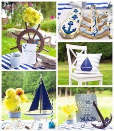 Nautical baby shower via Kara's Party Ideas