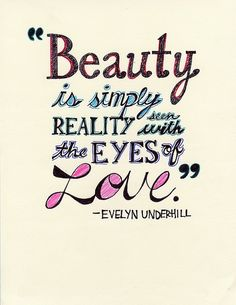 Beautiful quote ~ Love it!