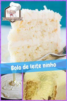Bolo Mousse de Leite Ninho uma delícias. #Bolo #ReceitasdeCulinária #Cozinhar
