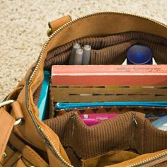 Create a simple purse organizer with two simple placemats.  An easy sewing project for beginners & practical organizers.