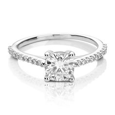 Forever Brilliant® 1 1/4 ct. tw. Moissanite Engagement Ring in 14K White Gold