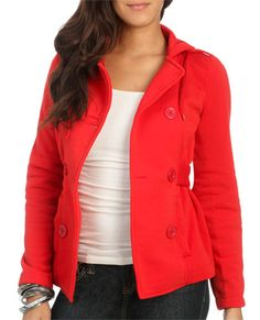 Belted Double Breasted Jacket from WetSeal.com
