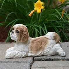 Shih Tzu Garden Statue Google Search Animal Statues Dog Outdoor Decor