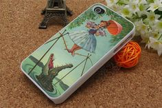 iPhone 5 Case,Stretching Painting iPhone 4 4S 4G   cover ,Vintage Crocodile cover skin case for iPhone 4S Case Haunted Mansion