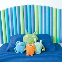 Use pool noodles to make a headboard for your kid's bed!