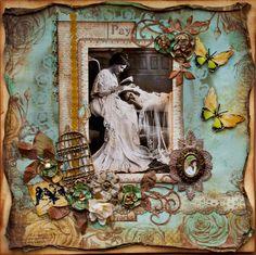 Baby Bird In a Gilded Cage - Scraps Of Darkness -Dusty Attic Sneak Peek - Scrapbook.com