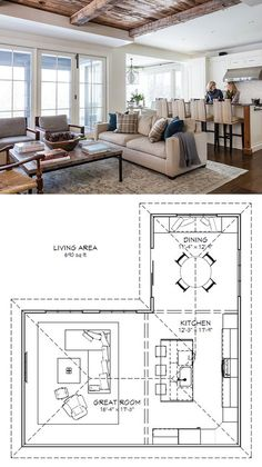 Kitchen Layout Design Great Rooms For 2019 Kitchen Layout Plans, Kitchen Floor Plans, Kitchen Ideas, Kitchen Decor, Floors Kitchen, Kitchen Ceilings, Diy Kitchen, Awesome Kitchen, Kitchen Layouts With Island