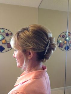 Mother of the Bride Hairstyle, Bridal Hair, Wedding Hairstyle by A Hair Affair Onlocation Bridal and Formal Event Hairstyling Services   www.facebook.com/onsitebridalbeauty