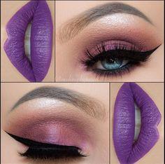 Maquillaje en tonos morado