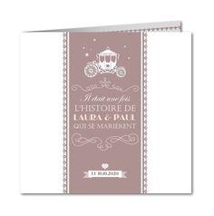 faire part mariage caleche et dentelle Planet-cards #mariage #fairepart #conte #cendrillon
