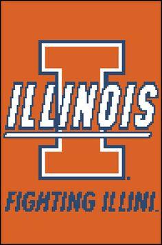 University of Illinois Counted Cross by PaulaHowardPatterns, $10.00
