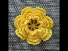 Crochet Flower Tutorial #2 (add petals) - YouTube