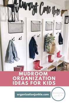Mudroom organization tips to help you keep the trickiest space in the house spick and span! A guide for the most organized mudroom a homeowner could have! Learn how to keep your mudroom organized and spotless! Locker Organization, Organization Ideas, Declutter Your Home, Organizing Your Home, Vintage Lockers, Laundry Room Inspiration, Laundry Decor, Clutter Free Home, Family Organizer