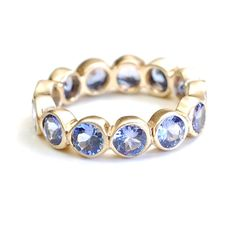 Tanzanite Wedding Band Tanzanite Band Tanzanite Ring by NIXIN, $2156.25