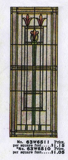 american foursquare stained glass - Google Search