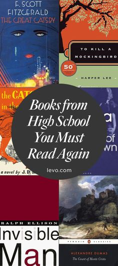 Re-read this books again! Great Gasby, anyone? #Books you read in high school that you NEED to read in your 20s. #LevoReads