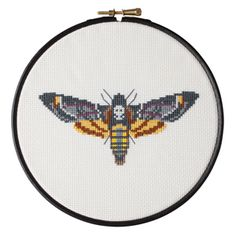 Rock the taxidermy trend without the creepiness, with this cross-stitch moth inspired by the death's head moth. This cross-stitch pattern is illust...