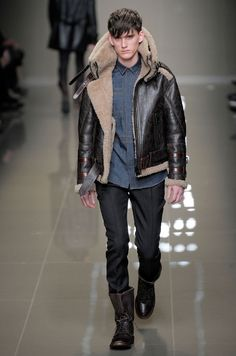 More Burberry Prorsum.  How did I ever live without a double shearling collar bomber jacket?  How am I living without one now?